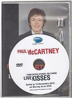 PAUL McCARTNEY live kisses DVD PROMO france french pressing BEATLES WINGS