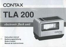Contax TLA 200 Instruction Manual (English, French, German, Spanish)