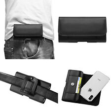 Men's PU Leather Wallet Card Holder Waist Bag Belt Clip Holster Pouch Case Cover