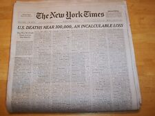 THE NEW YORK TIMES NEWSPAPER SUNDAY MAY 24, 2020 1000 NAMES