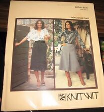 KNITWIT SEWING PATTERN NO. 4500  Ladies straight Skirt Sizes 6-22