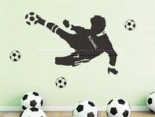 Wandtattoo Wall Decal Sticker Fußball Fußballer Fußballspieler mit Name XS - XXL