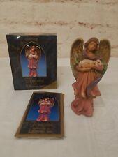 Roman Fontanini Club Piece 1998 Candace Angel & Baby Lamb Box & Storycard Signed
