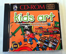 Kids Art ~ RARE Silver Coyote Software ~ IBM PC Game Draw Paint ~ 3.5 Language
