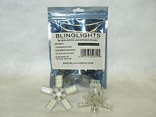BlingLights White LED 3157 Spider Lite Bulbs Tail Lamps Rear Brake Stop Lights