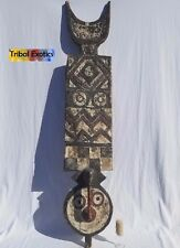 WAS $9,650 - Tribal African Art Bwa Bobo Ule Plank Mask Figure Sculpture Statue