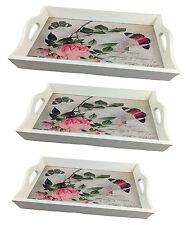 Tablett Set Serviertablett Rosa LN472 Kellnertablett Holz Servierplatte Landhaus