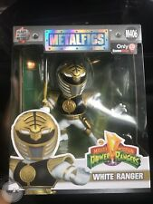"Mighty Morphin Power Rangers Die Cast Metal Fig 4"" WHITE RANGER SDCC 2017"
