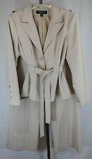Signature Larry Levine Womens Ladies Beige 2 Piece Pants Suit Size 14