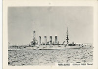 1940's  USS Pittisburg US Navy ship Photo