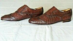 SUPER RARE!!! $3500+ GUCCI Genuine Crocodile Alligator Boots Loafers Shoes 10.5