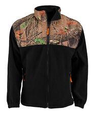 Men's Trail Crest C-Max Fleece Black and Camo Wind Jacket  Size 2XL NEW