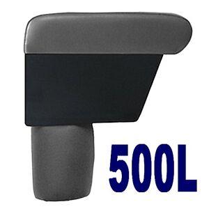 Bracciolo Premium per FIAT 500L colore GRIGIO -MADE IN ITALY -appoggiabraccio-@