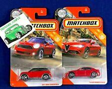 Matchbox - Lot of 2 - '16 Alfa Romero Giulia / 2011 Mini Countryman - C145