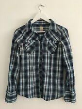 Camisa de cuadros ajustada chica Bershka ladies checkered shirt S