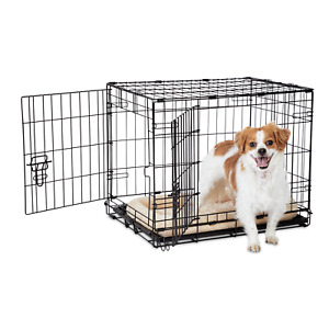 """Animaze 2 Door Folding Dog Crate For Small Dogs 24.5"""" L x 18"""" W x 19"""" H"""