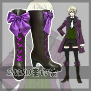 NEW Black Butler II 2 Alois Trancy Anime Cosplay Costume Shoes Boots@