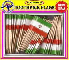 Iran flag Iranian flag Persia flag toothpicks for cooking cupcakes cocktails