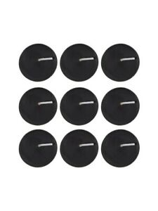 Candle Pack of 9 Opium Scented Tealights Black
