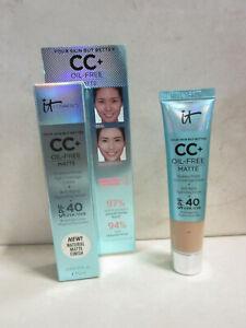 IT COSMETICS YOUR SKIN BUT BETTER CC+ CREAM MEDIUM 0.406 OZ BOXED