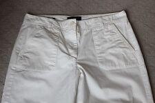 Talbots Womens Heritage Capri Crop Pants Size 10 Cotton White Pockets