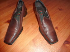 EVERYBODY by BZ Moda Chaussures 37,5  escarpins shoes cuir  femme marron rouge