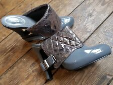 "BABY PHAT GREY 5""STILETTO HEEL SLIP ON SIZE 3 SHOES. PERFECT CONDITION"