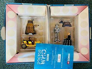 Doctor Who Corgi Tardis Boxed Set with K9, Cyberman, Davros, Dalek