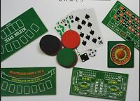 Casino Games 4 in 1 Board Game Poker Roulette Black Jack Craps