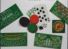 Casino Games 4 in 1 Board Game Poker Roulette Black Jack Craps