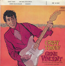 "7"" FRENCH EP 45 TOURS GENE VINCENT ""Crazy Times / She She Little Sheila +2"" 1960"