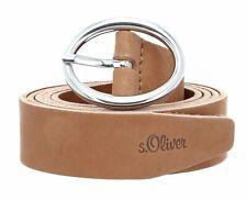 s.Oliver Leather Belt 3.0 W105 Gürtel Accessoire Brown Braun Neu