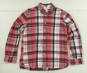 Brooks Brothers Mens Linen Cotton Blend Check Long Sleeve Shirt - Size L