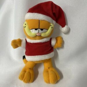 "Garfield Christmas Santa Hat 8"" Plush Stuffed Animal"