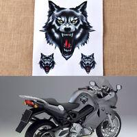 Cool Wolf Head Decal Vinyl Sticker fits Motorcycle Motorbike Car Truck Helmet