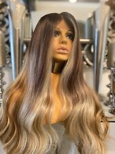 human hair 360 lace wig, Ombre Wig, lace Front Wig Blonde 360 Balayage Lace Wig