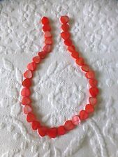 Pretty abalone shell strings of heart shape beads orange jewellery craft new