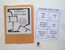 Teacher Made Literacy Center Learning Resource Game Vocabulary Rock and Roll