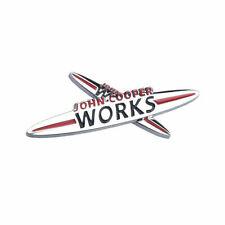 Mini Cooper John Cooper JCW Works Metal Grill Badge Adhesive Chrome