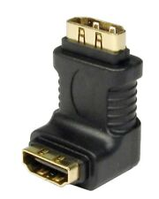 GOLD HDMI Right Angled Adapter 90 Degree LCD Plasma Female to female