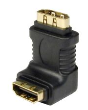 HDMI Right Angled Adapter 90 Degree LCD Plasma Female to female GOLD