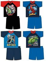 Boys Batman Hulk Spiderman Avengers Short Pyjamas Nightwear Shorts Top 4-10 Yrs