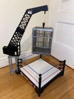 WWE MATTEL CRASH CAGE RING FOR WRESTLING FIGURES WWF TOY