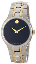 Movado 0606958 Black Dial Two Tone Stainless Steel Men's Watch