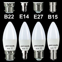 10 X LED BC SBC ES SES CANDLE LOW ENERGY SAVING BULBS LAMPS WARM/COOL/DAY LIGHT