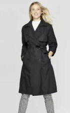 Women's Double Breasted Trench Rain Coat - A New Day - Black - XL - NWT
