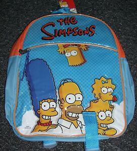 THE SIMPSONS JUNIOR BACKPACK CHILDS KIDS RUCKSACK SCHOOL NURSERY BAG BART BNWT