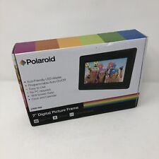 "Polaroid 7"" Inch Digital Photo Frame Black Support USB/SD/SDHC/MMC Brand New"