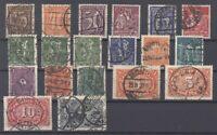 Dt. Reich Mi.Nr. 177-96 weitgehend komplett gestempelt, geprüft Infla (28589)