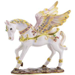 RUCINNI Pegasus Jeweled Trinket Box with SWAROVSKI Crystals